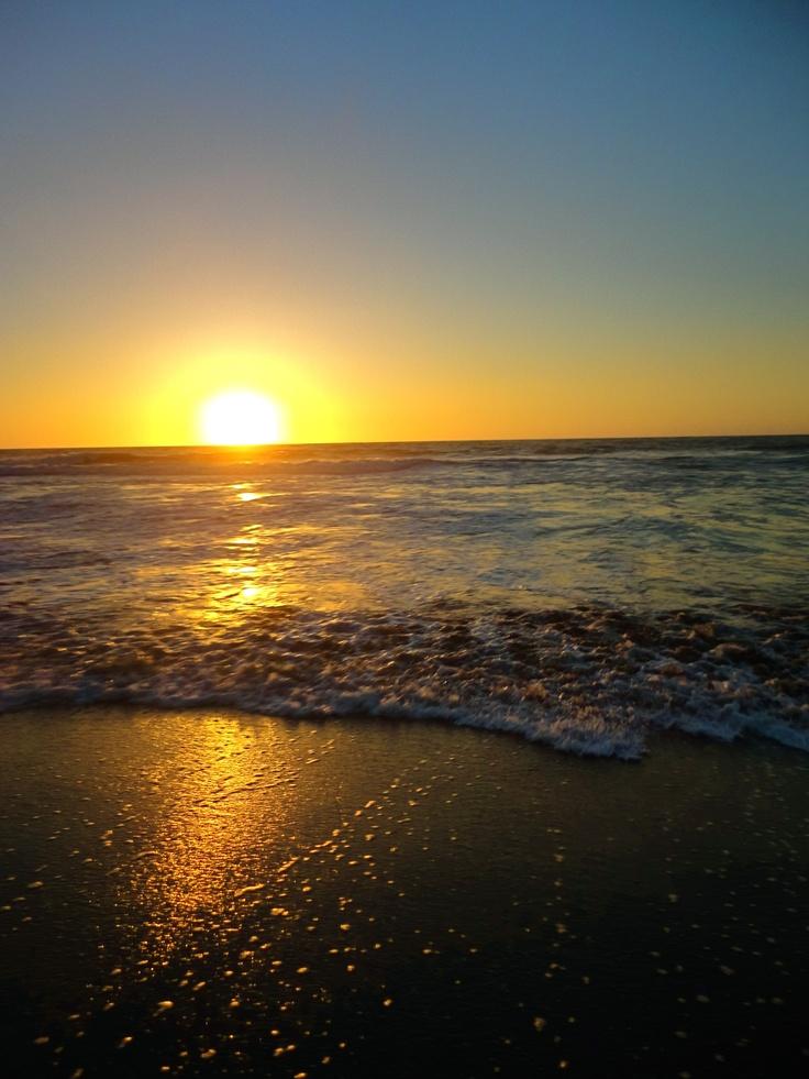 Chilean coastal sunset