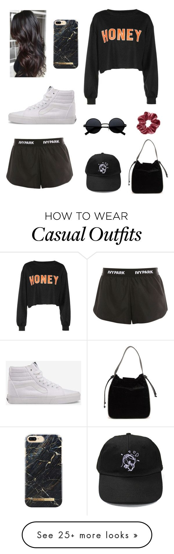 """""""Casual Summer Lunch"""" by aquariose on Polyvore featuring French Connection, Ivy Park and Vans"""