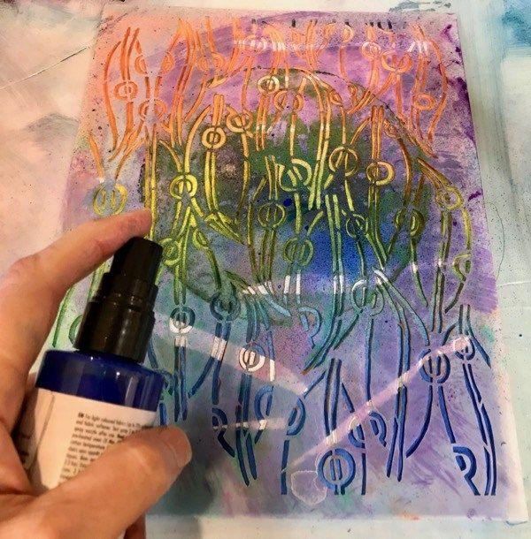 Spray Painting Layers Fabric Spray Paint Spray Painting Stencil Fabric