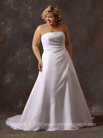 10 Best Images About Wedding Dresses On Pinterest Satin Plus Size Wedding