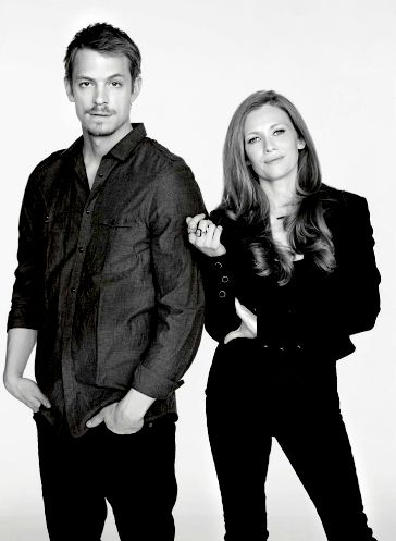 Mireille Enos & Joel Kinnaman - Anyone watch The Killing on Netflix? I love these characters. Him, did you see the so-funny interview with Jimmy Kimmel on YouTube where he talks about Yosemite Sam? I can find a link if you want...