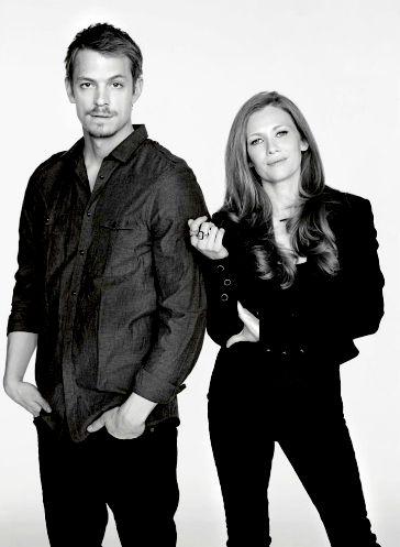 Mireille Enos & Joel Kinnaman - Detectives Holder and Linden.     The Killing.