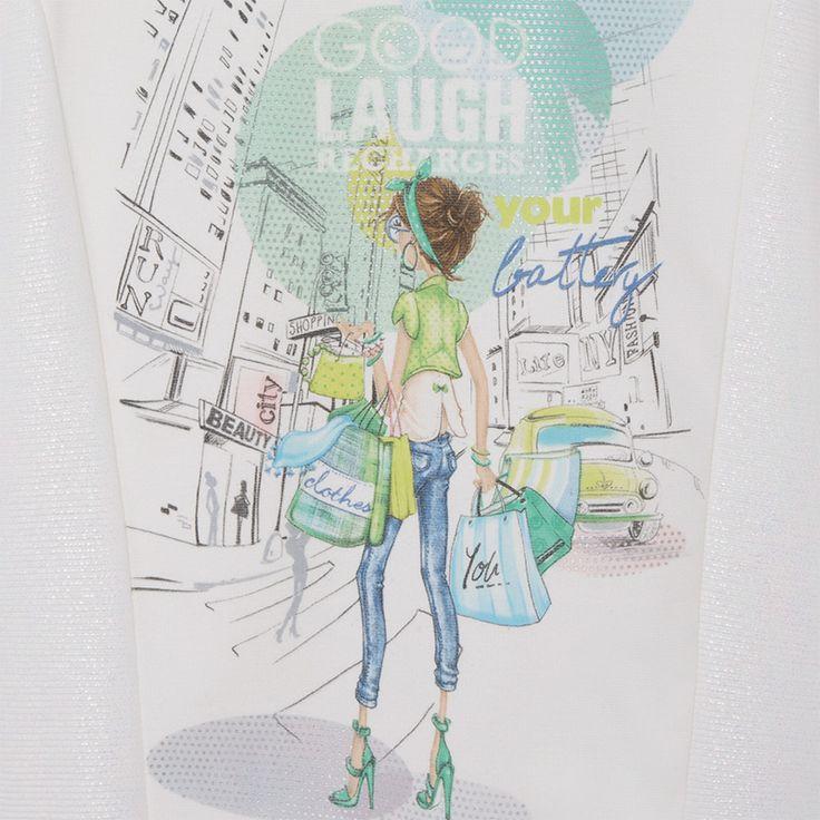 Vestido de niña print papel nacarado Nacarado