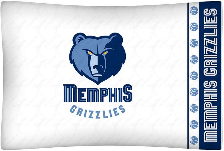 Memphis Grizzlies NBA Sports Coverage Team Color Standard Pillowcase Logo #SportsCoverage
