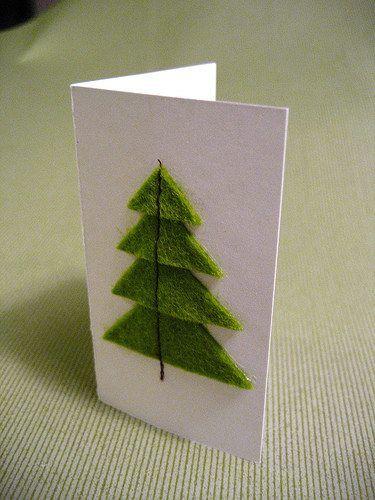 Machine sewn felt on card - i can do that!