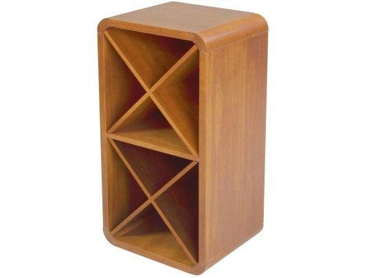 Adega de Vinho Sintonia Mel A adega de madeira para vinhos Sintonia, é perfeita para sua sala de estar, sala de jantar ou bar. Além de ser modular ela possui 8 nichos para armazenar as garrafas. Este móvel tem capacidade média para 16 garrafas. Adega produzida em madeira maciça de reflorestamento Pinus.