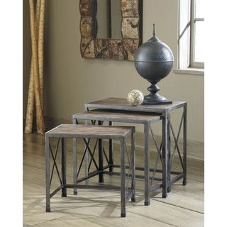 Shop for Signature Design by Ashley Vennilux Gray/Brown Nesting End Tables (Set of 3). Get free shipping at Overstock.com - Your Online Furniture Outlet Store! Get 5% in rewards with Club O! - 17811605