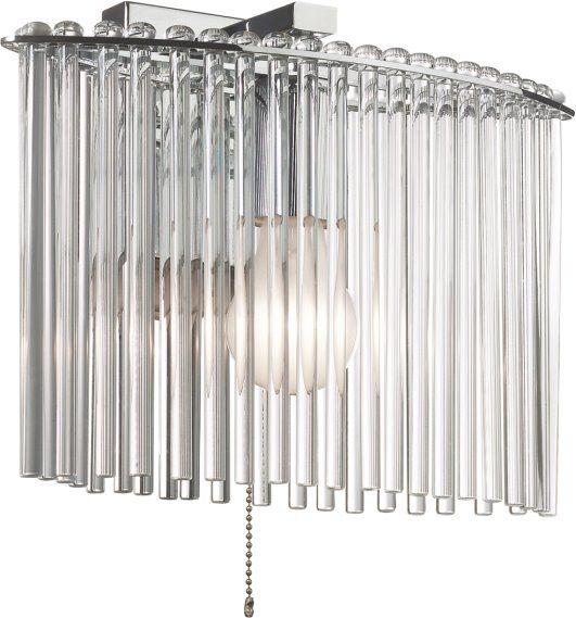 Kinkiet do salonu w kolorze chromu. Tworzywo: metal i szkło. Więcej na http://lampa24.pl/kinkiet-k-ma02549w-1,3,6345,4898
