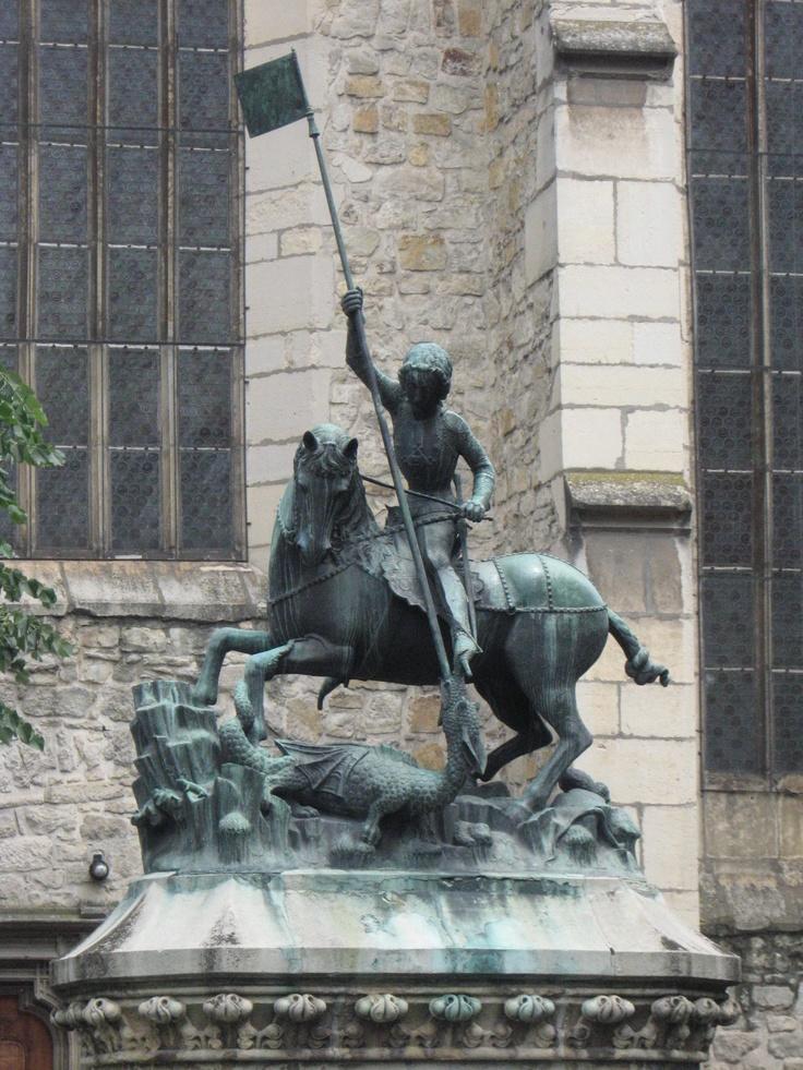 Saint George Statue in Cluj-Napoca, Romania