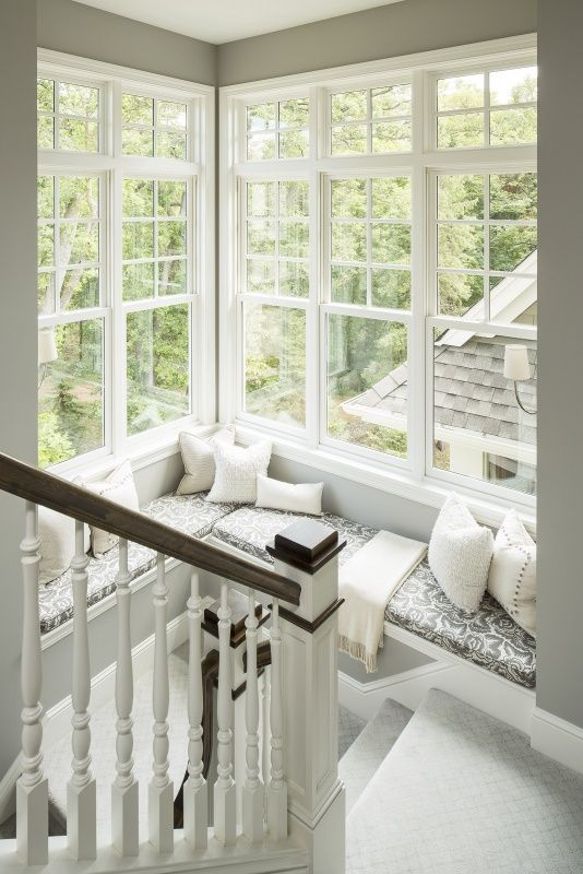 window-seat in stairwell