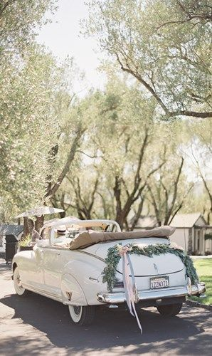 свадьба в стиле прованс машина