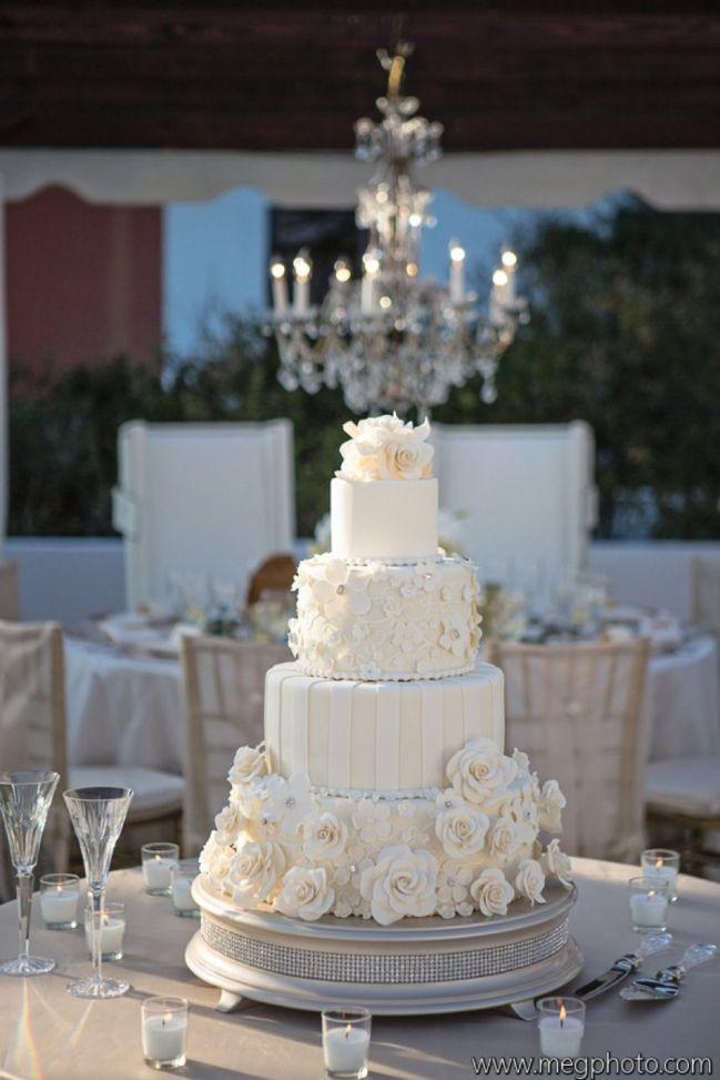 Elegant wedding cake // // Rosemary Beach Wedding | It's a Shore Thing Wedding Planning | Nouveau Flowers | Meg Baisden Photography | Confections on the Coast