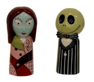 Jack and Sally Salt and Pepper Shakers