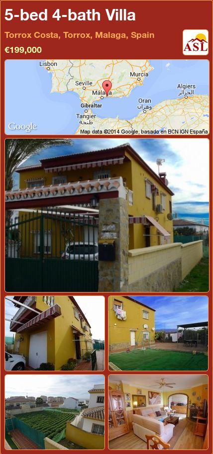 5-bed 4-bath Villa in Torrox Costa, Torrox, Malaga, Spain ►€199,000 #PropertyForSaleInSpain
