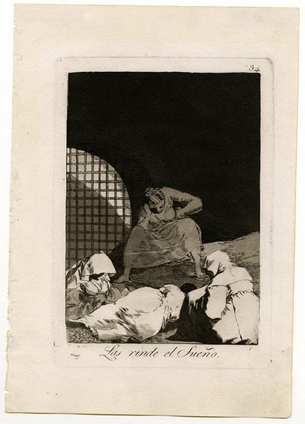Los Caprichos de Goya . No hay que despertarlas, tal vez el sueño es la única felicidad de los desdichados.