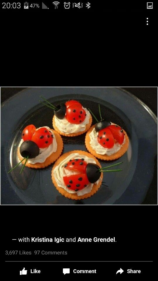 Cherry tomato ladybugs