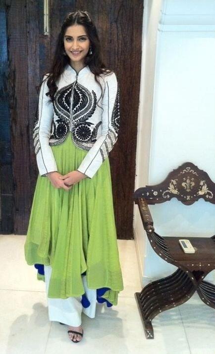 Sonam Kapoor in Ekru different Indian