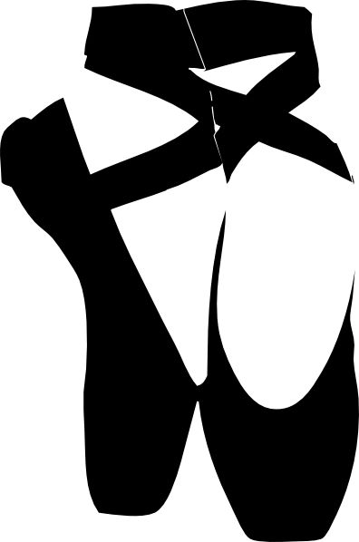 dance silhouette clip art | Black Pointe Shoe clip art - vector clip art online, royalty free ...