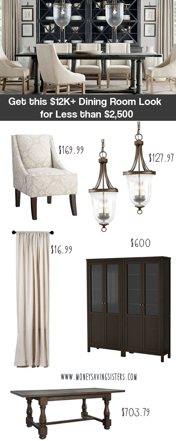 Imagine getting the look of a $12,000 dining room for a fraction of the price? That's exactly what we did here in this week's Designer Room Knockoff blog post! We took an elegant Restoration Hardware dining room that has a price tag of over $12,000 and used inexpensive pieces from Target, Ikea, Home Depot and …Read more...