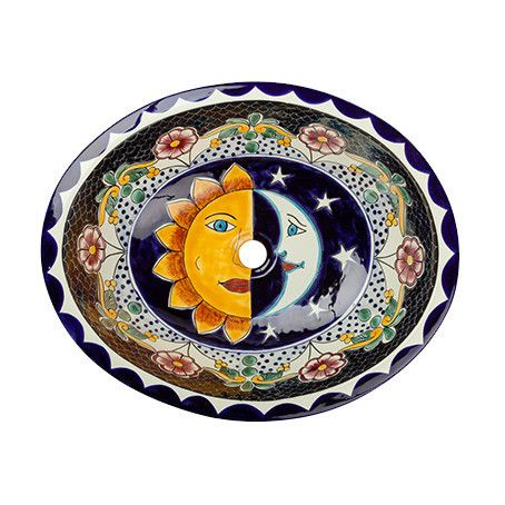 Spice Up The Bathroom With A Beautiful Sol Y Luna Hand Painted Mexican Basin .