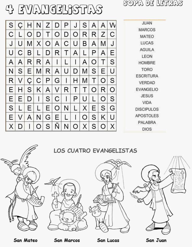 TARJETAS Y ORACIONES CATOLICAS: SOPA DE LEBRAS CUATRO EVANGELISTAS