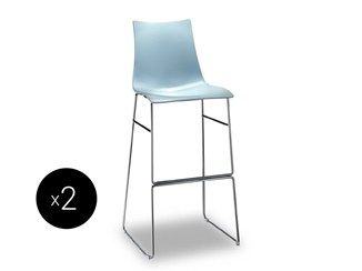 Sled base high technopolymer stool ZEBRA TECNOPOLIMERO   Sled base stool - SCAB DESIGN