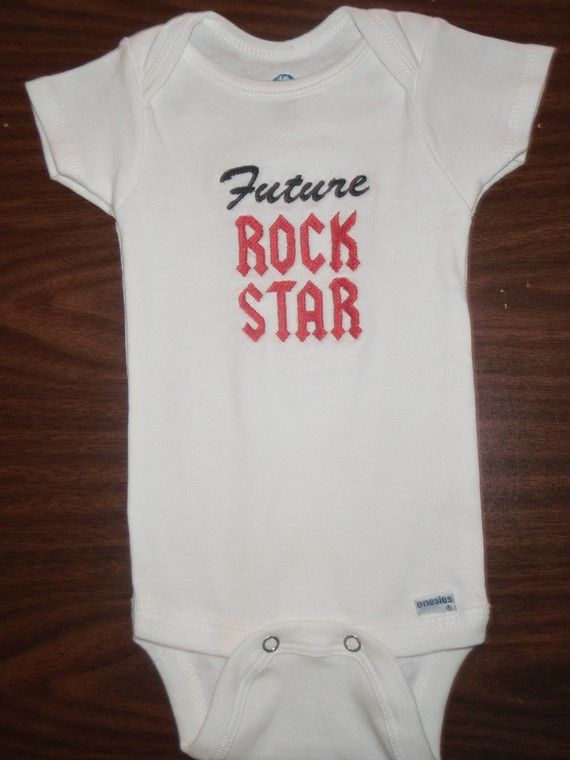 Future Rock Star Punk Rocker Baby Bodysuit Shirt on Etsy, $10.99