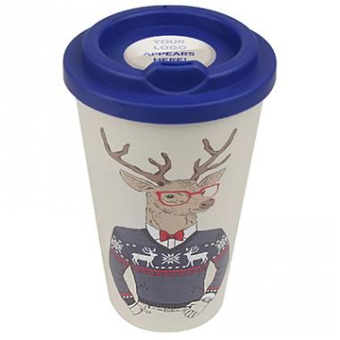 Branded Christmas Themes Americano style Mug with reindeer design. :: Promotional Christmas Gifts :: Promo-Brand :: Promotional Products l Promotional Items l Corporate Branding l Branded Merchandise