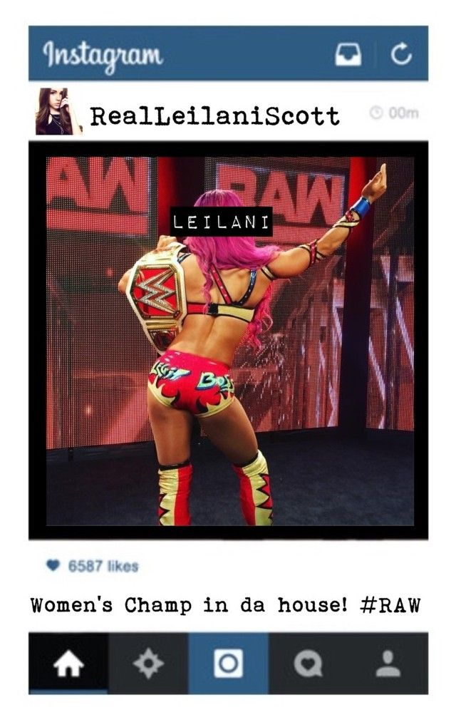 """""""Women's Champ- Leilani 👑"""" by wwegirl2424 ❤ liked on Polyvore featuring art"""
