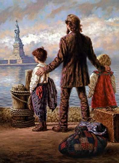 "The Ellis Island Experience  ""A New Beginning"" by artist Jim Daly"