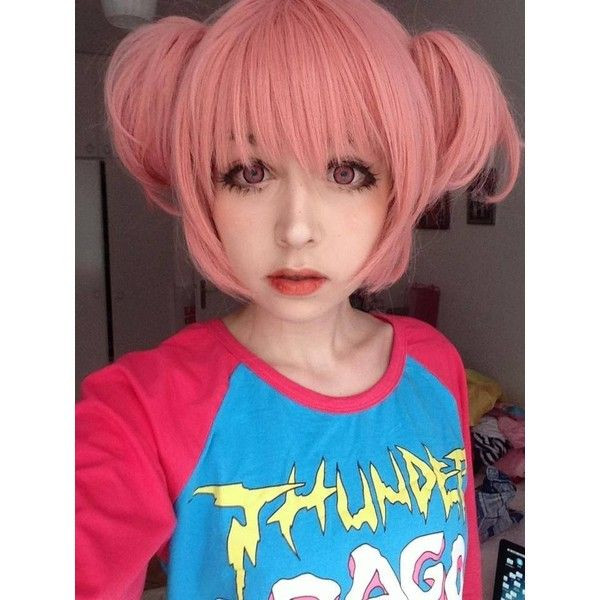 anzujaamu – Twin buns (・ω・) After the makeup tutorial! found on Polyvore fe…
