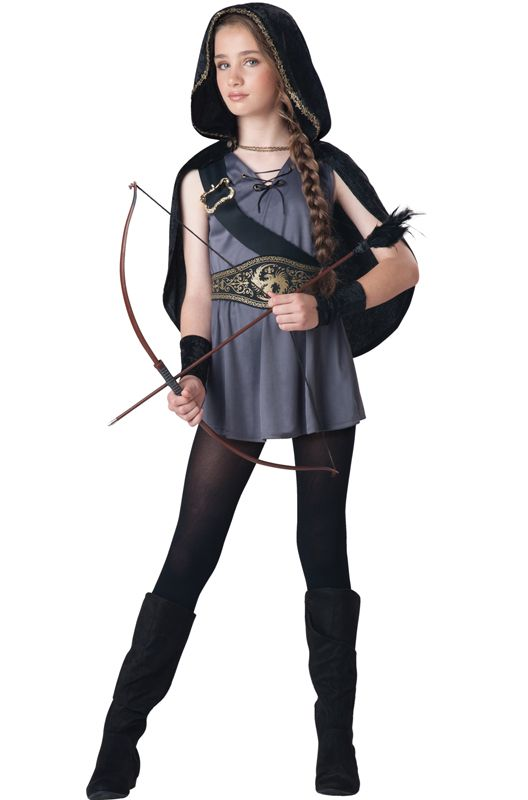 Check out the deal on Hooded Huntress Tween Costume - FREE SHIPPING at PureCostumes.com