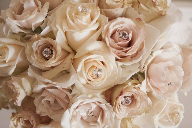 Cream, Gold, Champagne and Ivory Roses - Claire & Paul's Old Hollywood Glamour Theme