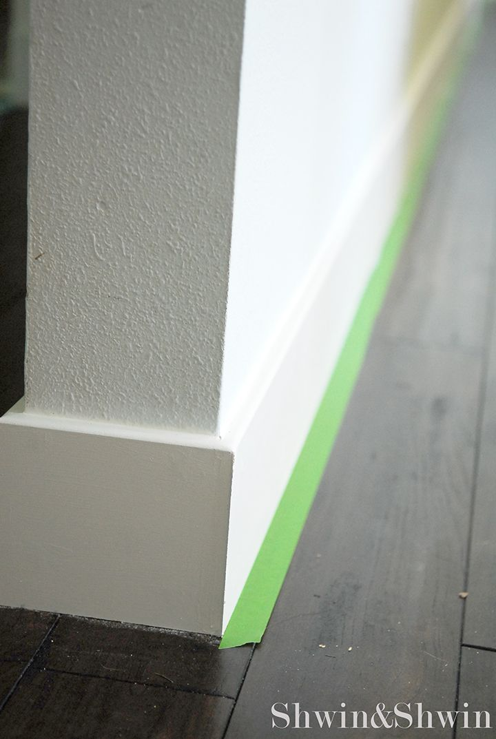 Square edge baseboard no shoe molding necessary as we for Mid century modern baseboard