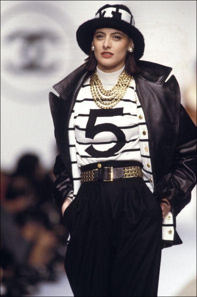 Archive // Ines de la Fressange au défilé Chanel