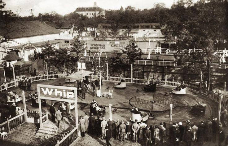 1930 körül. Városliget, Angol Park, a Kanyargó nevű játék.