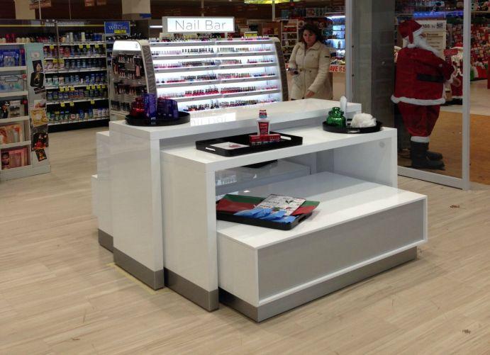 Adglow nail bar store display