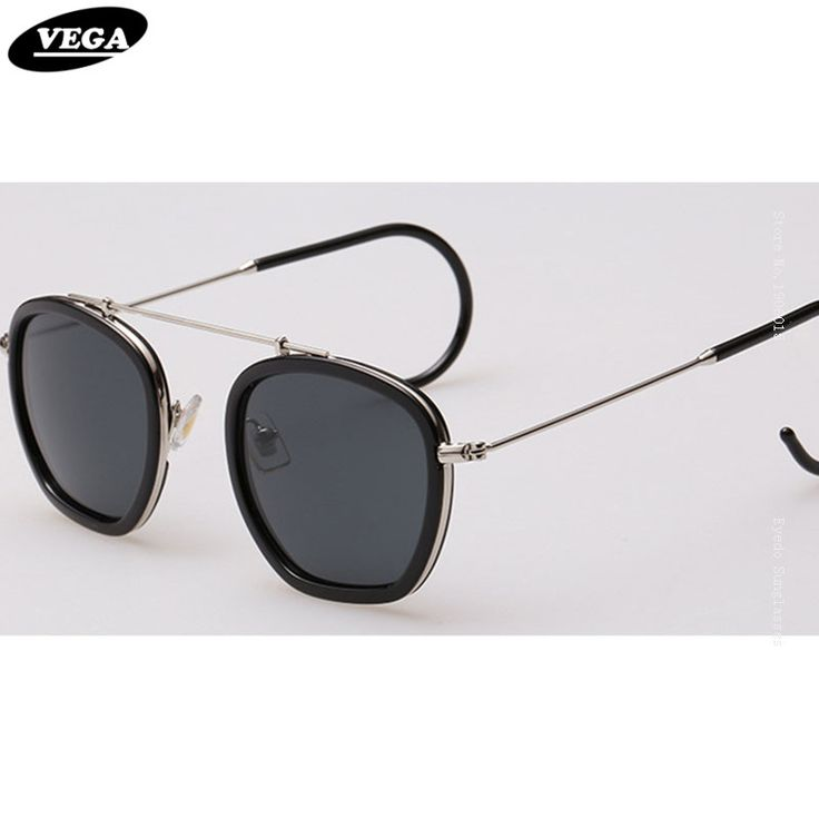 VEGA Wraparound Retro Sunglasses For Small Faces Unique Hippie Sunglasses HD Vision Hipster Glasses Extra Thin Hook Legs 007
