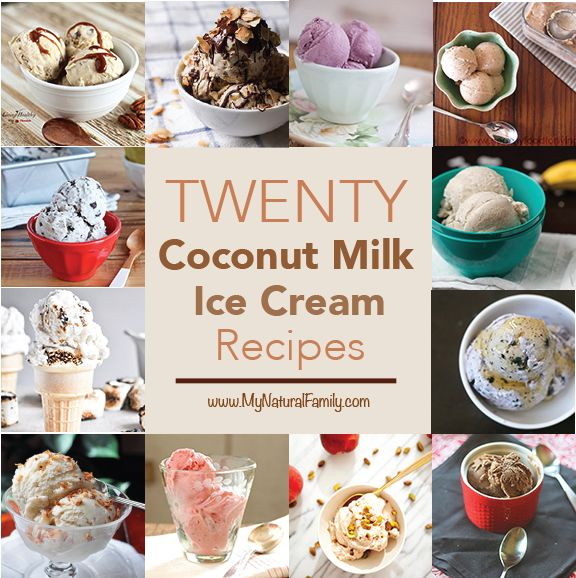 20 of the Best Coconut Milk Ice Cream Recipes on MyNaturalFamily.com #coconut #milk #recipe #dairyfree