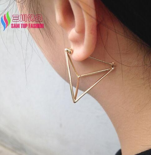 Find More Stud Earrings Information about hot sale fashion gold/ silver plated copper square /triangle cubic piercing ear stud earrings for women bijoux brincos,High Quality fashion jewelry - earring,China earings Suppliers, Cheap fashion jewelry pearl earrings from Sam Top Fashion[min order:$10] on Aliexpress.com