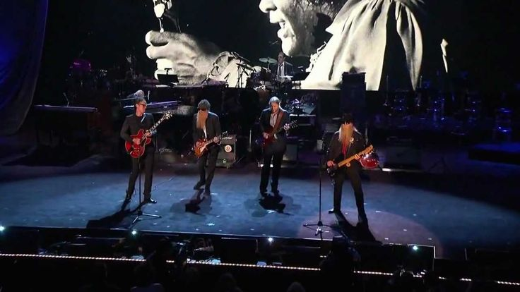 """ZZTop and Joe Bonamassa: Billy Gibbons, Derek Trucks and Dusty Hill and unknown drummer live at the Rock Hall Of Fame induction of Freddie King 2012 playing """"Going Down"""" Turn it up!"""