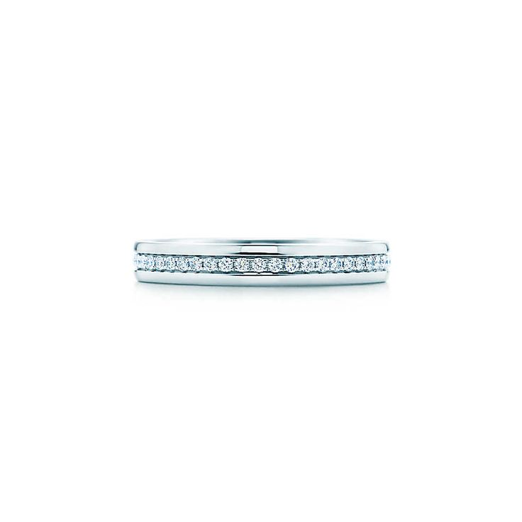 Bague Tiffany Metro en or blanc 18carats et diamants.   Tiffany & Co.