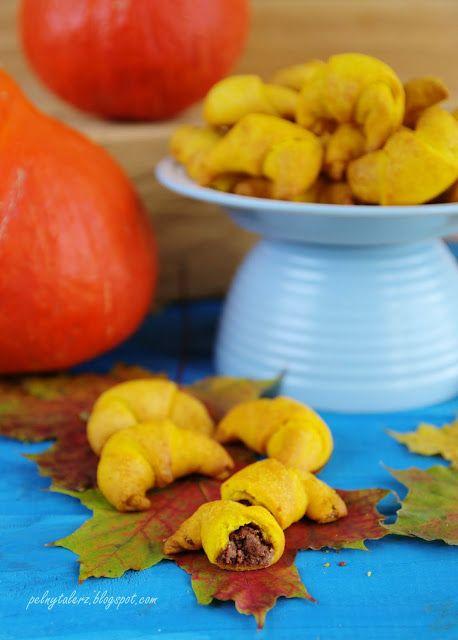 Kruche rogaliki dyniowe - pumpkin mini rolls