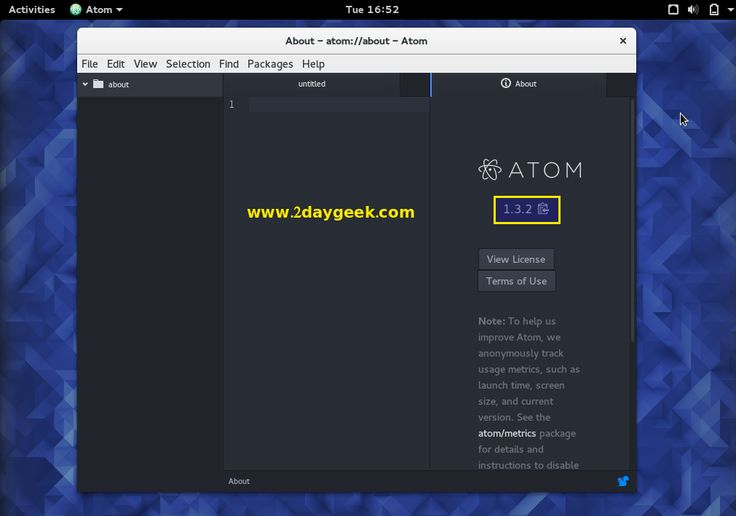 Install Atom 1.3.2 A Hackable Text and Source Code Editor for Linux | 2daygeek.com