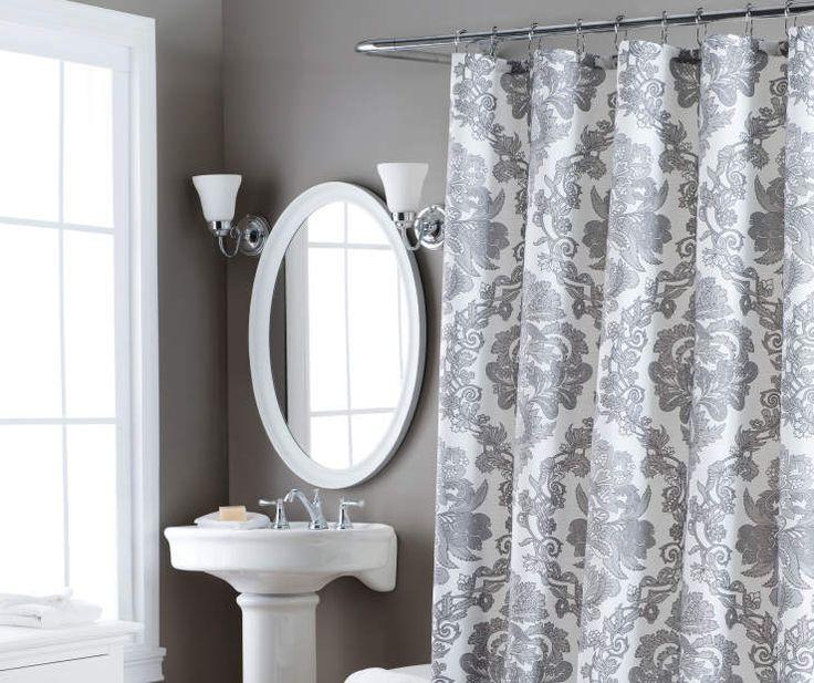 Gray U0026 White Berkshire Shower Curtain, At Big Lots.