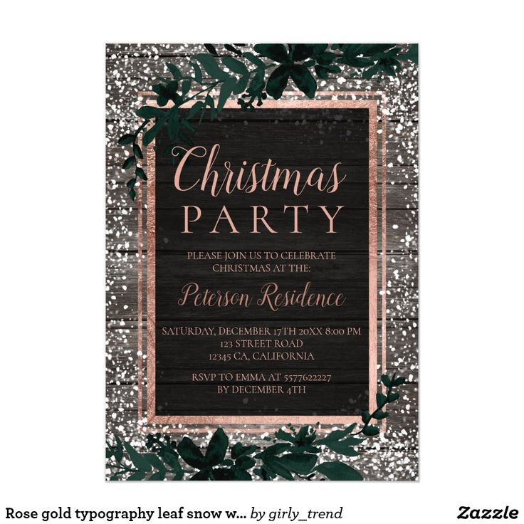 399 best corporateoffice christmas parties by zazzlers images on rose gold typography leaf snow wood christmas 2 stopboris Image collections