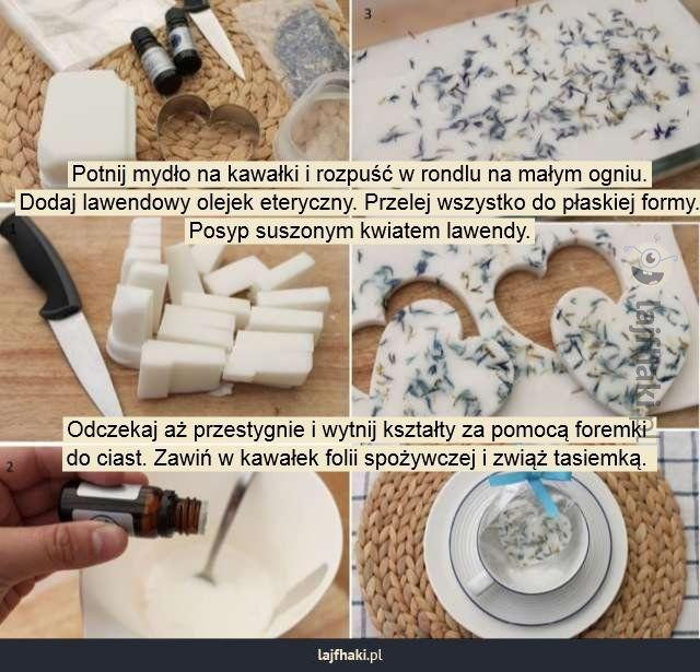Prezenty dla gości weselnych - Potnij mydło na kawałki i rozpuść w rondlu na…