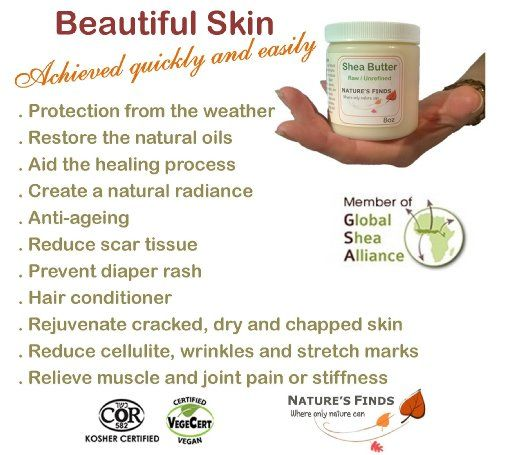 Amazon.com: Shea Butter Natural Organic Skin Care 8oz Nature's Finds: Health & Personal Care