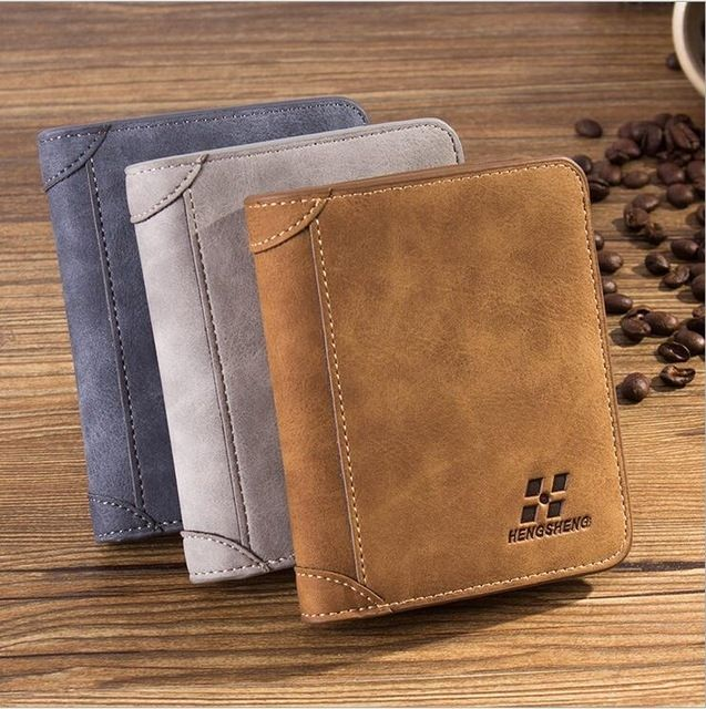 Fashion Men PU Leather Bifold Wallet Credit//ID Card Holder Slim Coin Purse New