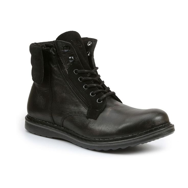 Durable GBX Trammell Cuffed Men's Ankle Boots Black